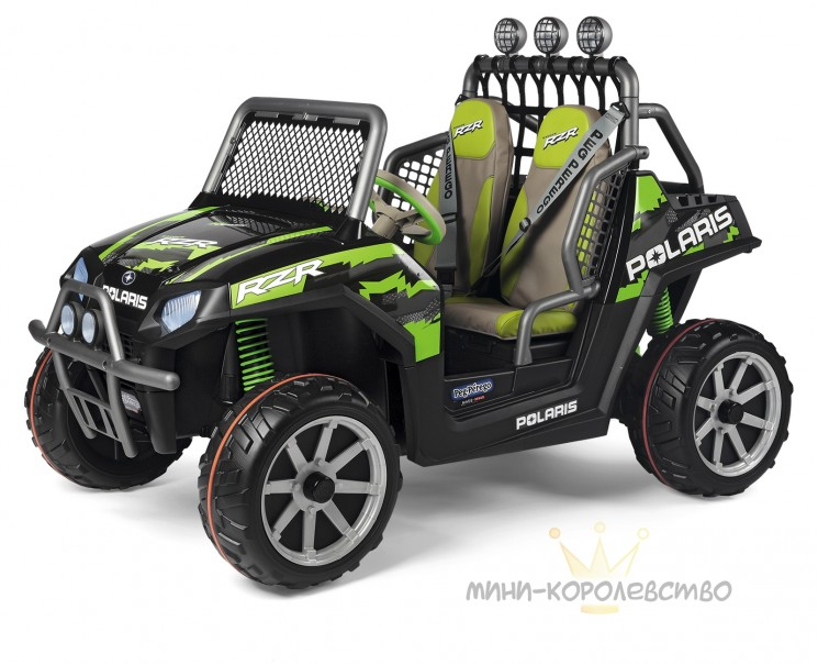 Электромобиль Peg-Pérego Polaris Ranger RZR Green Shadow 2019